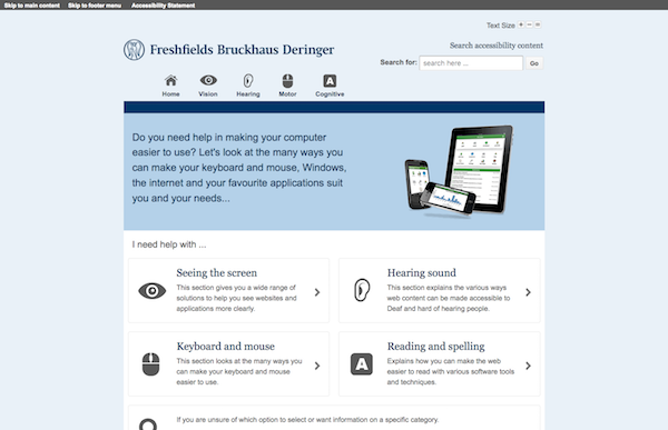 Freshfields My Computer My Way screengrab