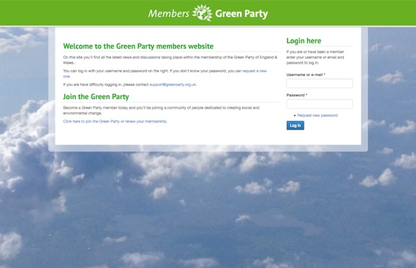 Green Party England & Wales Screengrab
