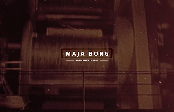 Maja Borg, filmmaker screengrab
