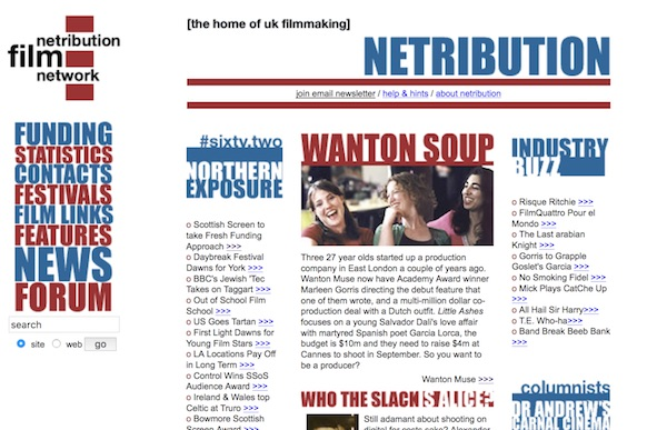 Netribution website screengrab