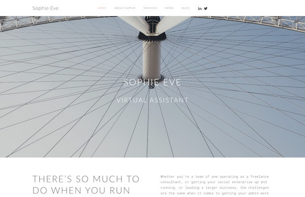 Sophie Eve website screengrab